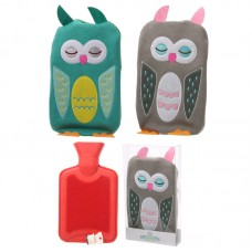 Hot Water Bottle with Cover 1L - Knitted Owl