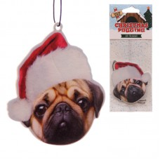 Fun Xmas Pug Design Air Freshener