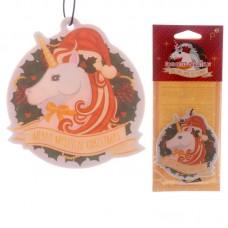 Unicorn Shaped Vanilla & Nutmeg Scented Christmas Air Freshener