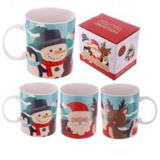 Christmas New Bone China Mug - Buddies Design