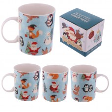 Christmas New Bone China Mug - Repeat Buddies Design