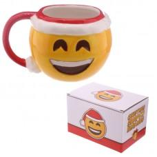 Fun Collectable Ceramic Big Smile Emotive Mug with Lid